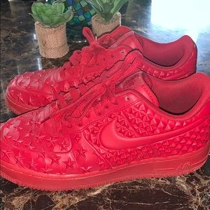 RED NIKE AIR FORCE ONES❤️❤️❤️